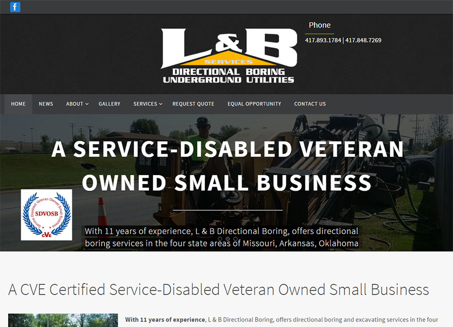 L & B Services website