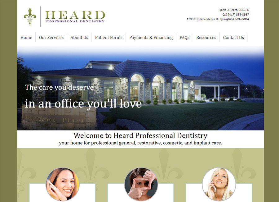 Heard Professional Dentistry website